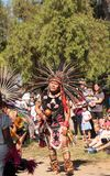 Aztec dancers celebrate Dia de los Muertos Stock Images