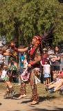 Aztec dancers celebrate Dia de los Muertos Stock Photography