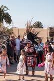 Aztec dancers celebrate Dia de los Muertos Royalty Free Stock Photos