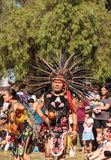 Aztec dancers celebrate Dia de los Muertos Royalty Free Stock Image