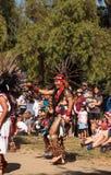 Aztec dancers celebrate Dia de los Muertos Stock Photos