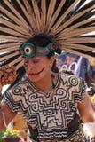 Aztec dancers celebrate Dia de los Muertos Royalty Free Stock Photography