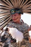 Aztec dancers celebrate Dia de los Muertos Royalty Free Stock Photo