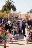Aztec dancers celebrate Dia de los Muertos Stock Image