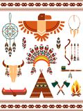 Aztec decorative elements. Aztec and Mayan Indian decorative vector elements Royalty Free Stock Images