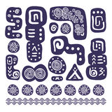 Aztec design elements Stock Images
