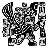 Aztec Eagle Warrior. Ethnic Art representing a Mayan, Aztec Symbol, a Warrior with Eagle Head. The Eagle Warrior is a representation of the Aztec culture, and Royalty Free Stock Image