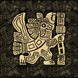 Aztec Eagle Warrior Grunge Bas-relief Stock Photography