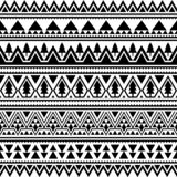 Aztec Ethnic Seamless Pattern. Triangle Shape Tribal Illustration Vector. Merry Christmas Motif Design in Black And White Color. Merry Christmas Seamless royalty free illustration