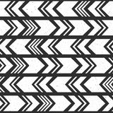 Aztec ethnic seamless pattern, tribal black and white background. Royalty Free Stock Photography