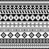 Aztec ethnic Seamless Pattern Vector. Inca Motif background in Monochrome color royalty free illustration