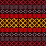 Aztec ethnic tribal seamless pattern Stock Photos