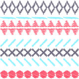 Aztec ethnic tribal seamless pattern Stock Images