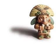 Aztec Figuerine. Small Aztec sculpture with drop shadow Stock Image