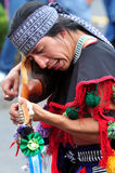 Aztec folklore in Zocalo Square, Mexico City Stock Photos
