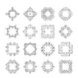 Aztec Frames. Set of geometric frames created in aztec or tribal style. Perfect clean design. Geometrical border Royalty Free Stock Photography