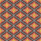 Aztec geometric seamless  colorful pattern. With leafs and arrows Stock Photography