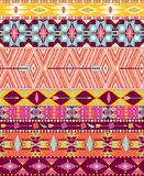 Aztec geometric seamless pattern. With arrow and birds Stock Images