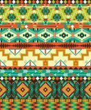Aztec geometric seamless pattern Royalty Free Stock Photos