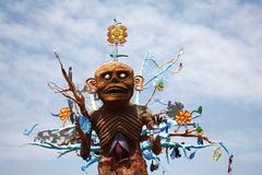 Aztec god Mictlantecuhtli. Representation of the ancient aztec god of the dead Mictlantecuhtli as part of the celebration of the day of the dead in mexico city Stock Images
