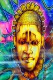 Aztec god mural Stock Photography