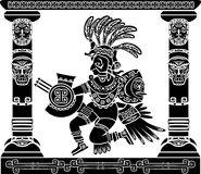 Aztec god Quetzalcoatl Royalty Free Stock Image