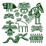 Aztec and inca native tribal signs Royalty Free Stock Image