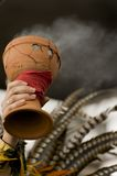 Aztec incense. Incense used during an Aztec ceremony during a outdoor event Royalty Free Stock Photo