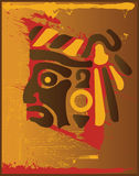 Aztec Indian Blood. Aztec Indian Design In Brown Royalty Free Stock Images