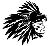 Aztec indian chief Stock Images
