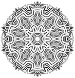 Aztec inspireerde Mandala Stock Afbeelding
