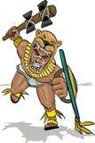 Aztec jaguar knight attacking Royalty Free Stock Image