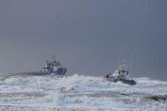Aztec jungfru: hjälpa för kustbevakning Fotografering för Bildbyråer