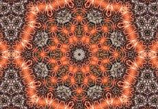 Aztec kaleidoscope abstract Royalty Free Stock Image