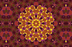 Aztec kaleidoscope abstract Royalty Free Stock Photos