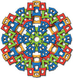 Aztec mandala big sun Stock Photography