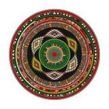 Aztec mandala. Round geometric motif against white background Stock Photo