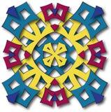 Aztec mandala sun. Abstract fullcolor fabric stylized aztec mandala sun Royalty Free Stock Images
