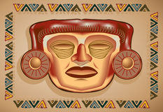 Aztec Mask Royalty Free Stock Images