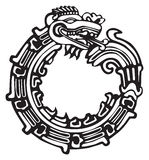 Aztec Maya Dragon - Great for tatto art Royalty Free Stock Image