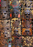 Aztec mayan wooden indian mask handcrafts Stock Images