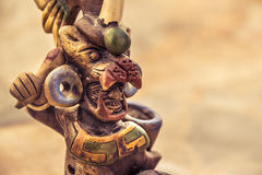 Aztec mexican warrior handicraft Royalty Free Stock Photo