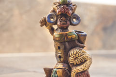 Aztec mexican warrior handicraft Royalty Free Stock Image