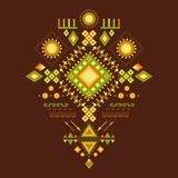 Aztec modell. Royaltyfria Bilder