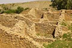 The Aztec National Monument in NM Stock Image