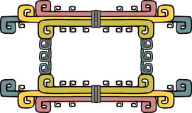 Aztec ornate frame Royalty Free Stock Photos
