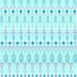 Aztec pastel blue pattern Royalty Free Stock Images