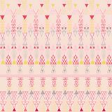 Aztec pastel peachy pattern. Illustration Stock Photos