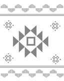 Aztec pattern abrstrac Royalty Free Stock Images