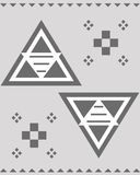 Aztec pattern abrstrac Stock Image